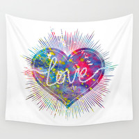 Love Wall Tapestry by Bitter Moon