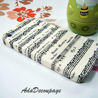 Music Sheet - iPhone 4 Case , iPhone 4s Case , iPhone 3g , 3gs , Samsung galaxy S2 , Vintage Case, case