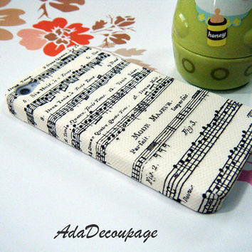 Music Sheet - iPhone 4 Case , iPhone 4s Case , Case for iPhone 4 , iPhone Cover , Case