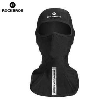 ROCKBROS Thermal Skiing Bibs Windproof Snowboard Cap Ski Face Mask Winter Scarf Neck Warmer Cycling Bicycle Cap Camping Headgear