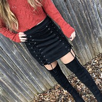 Alexis Lace Up Mini Skirt