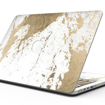 Gold Foiled Marble v1 - MacBook Pro with Retina Display Full-Coverage Skin Kit