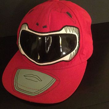 Mighty Morphin POWER RANGERS Baseball Cap Red Hat Adult