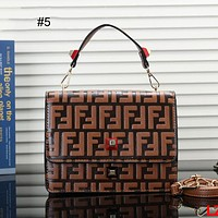 FENDI 2018 new retro bag shoulder bag Messenger bag small square bag #5