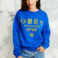 Obey 89 Jumper in Blue - Urban Outfitters