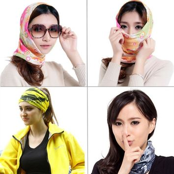 Fashion Outdoor Sports Men Scarves Cycling Hiking Bandanas Hood Ride Cycle Kerchief Polyester Male Scarf Head Decoration