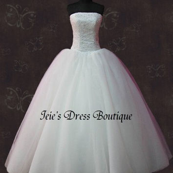 Timeless Cinderella Princess Tulle Gown Wedding Dress