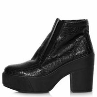AIMEE CROC GUSSET BOOTS