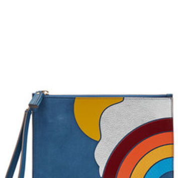 Suede Rainbow Clutch - Anya Hindmarch | WOMEN | US STYLEBOP.com