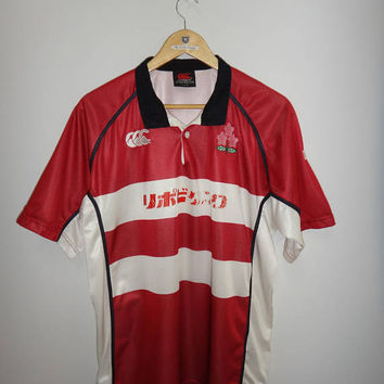 Vintage Japan Rugby Jersey Shirt Canterbury Japan National Team