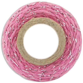 Classic Pink/Silver Bakers Twine