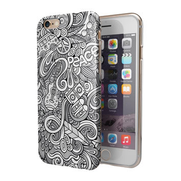 Hippie Dippie Doodles 2-Piece Hybrid INK-Fuzed Case for the iPhone 6/6s or 6/6s Plus