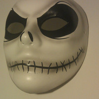 Nightmare Before Xmas - Jack Skellington mask - in Burton Image - wearable - Creepy