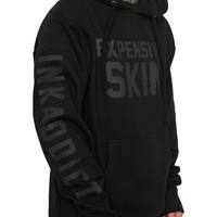 "Men's ""Expensive Skin"" Hoodie by InkAddict (Black Collection)"