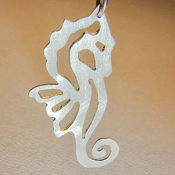 Silver Seahorse Necklace - Sterling  NL629