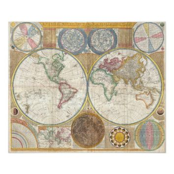 Vintage Double Hemisphere Map of the World from Zazzle.com