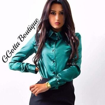 GGotta's Boutique silk satin blouse