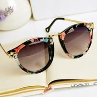 Flora Print Cat Eye Sunglasses