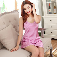 2016 Summer Style Women Night Dress Sexy Indoor Clothing Sleepwear Plus Size sleepdress Nightgowns Pijama Lingerie