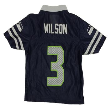 Seattle Seahawks Russell Wilson NFL Team Apparel Child Replica Football Jersey