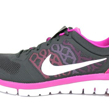 Nike Women's Flex 2015 RN Anthracite/Pink Running Shoes 709021 001