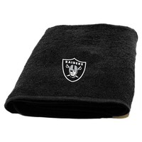 Oakland Raiders NFL Appliqué Bath Towel