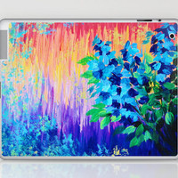 SHADES OF BEAUTIFUL - Stunning Bright BOLD Rainbow Ombre Pattern Blue Floral Hyacinth Nature Autumn Laptop & iPad Skin by EbiEmporium | Society6