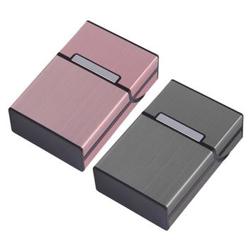 1 pc Aluminum Metal 20 Cigarette Case Lighters Best Friend Tobacco Box MD951