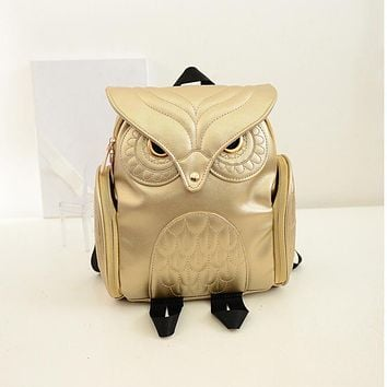 Yogodins Leather Owl Backpacks