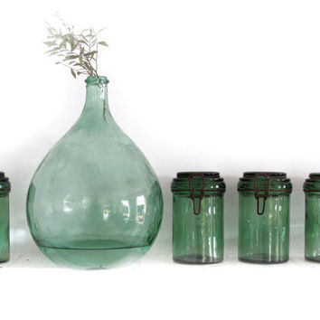 1 antique Green french canning jar DUR FORlarge by FrenchMelody