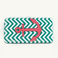 Chevron Anchor Hinged Wallet | Wallets & Wristlets | rue21
