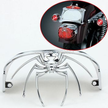Motorcycle Parts Chrome Spider Widow Rear Tail Light Cover Fits For Harley FLSTS FLSTSC FLSTN FXSTD