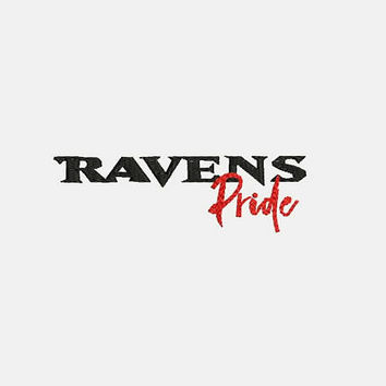 Baltimore Ravens Logo With Pride Tag Embroidery Design - Instant Download Filled Stitches Design 345G