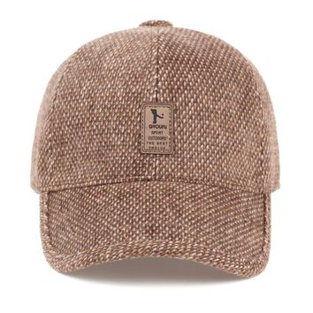 Winter Autumn Thickened Baseball Cap With Ears to keep warm Men'S Cotton Caps Snapback Hats Ear Flaps For Men Dad Hat