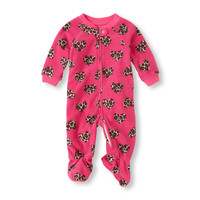 Long Sleeve Leopard Hearts Blanket Sleeper | The Children's Place