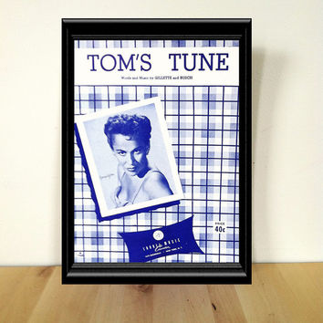 Tom's Tune Sheet Music {1951} Vintage Paper Ephemera