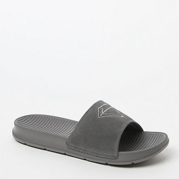 Diamond Supply Co Fairfax Suede Gray Slide Sandals at PacSun.com