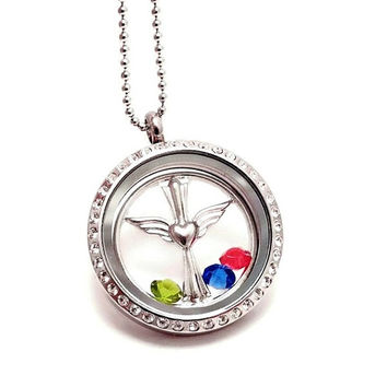 Floating Locket - Remembrance Jewelry - Floating Charm Locket