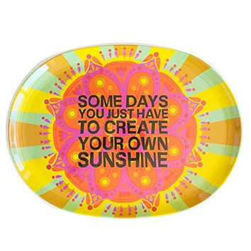 Melamine Platter Create Sunshine by Natural Life