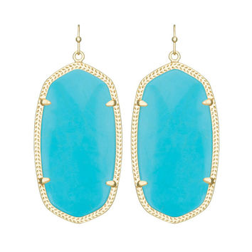 Kendra Scott Danielle Turquoise Magnesite Earrings 14K Gold