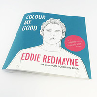 COLOUR ME GOOD EDDIE REDMAYNE colouring book