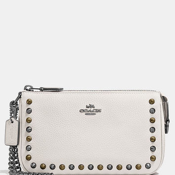 COACH OUTLINE STUDS NOLITA WRISTLET 19 IN LEATHER | Dillards