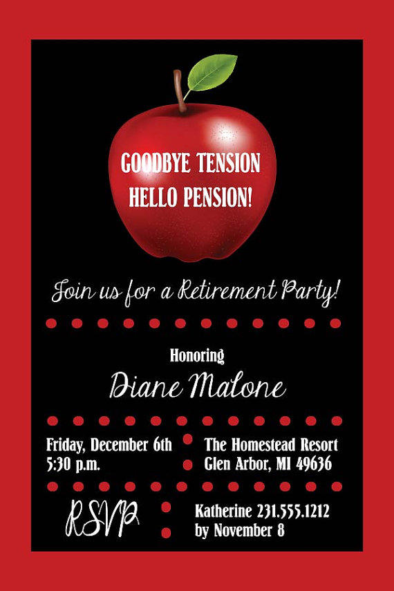 Silver Retirement Party Invitation - from AnnounceItFavors on
