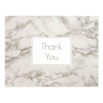 Marble Alabaster Taupe Tan Background Thank You Postcard
