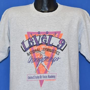 90s Level 9 Gymnastics Championships Air Force t-shirt Large