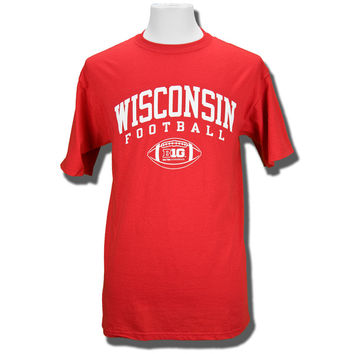 Champion Big 10 Football T-Shirt (Red)