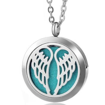 Angel Wings Essential Oil Diffuser Necklace
