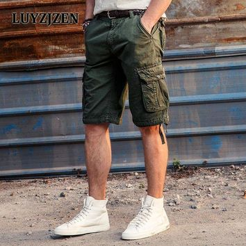 ONETOW Calf-Length Mens Cargo Shorts Men's Casual Shorts  Male SummerJoggers Army Style Homens Plus size Free Shipping 2027