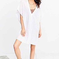 Band Of Gypsies Oversized Cape Dress- White