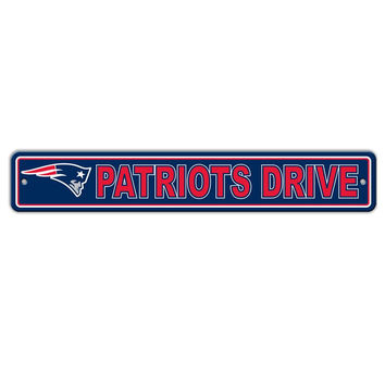 NFL New England Patriots 4x24 Street Sign